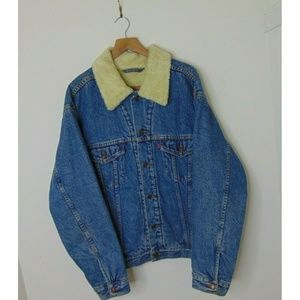Levi's L Sherpa Lined Denim Jean Jacket Relaxed